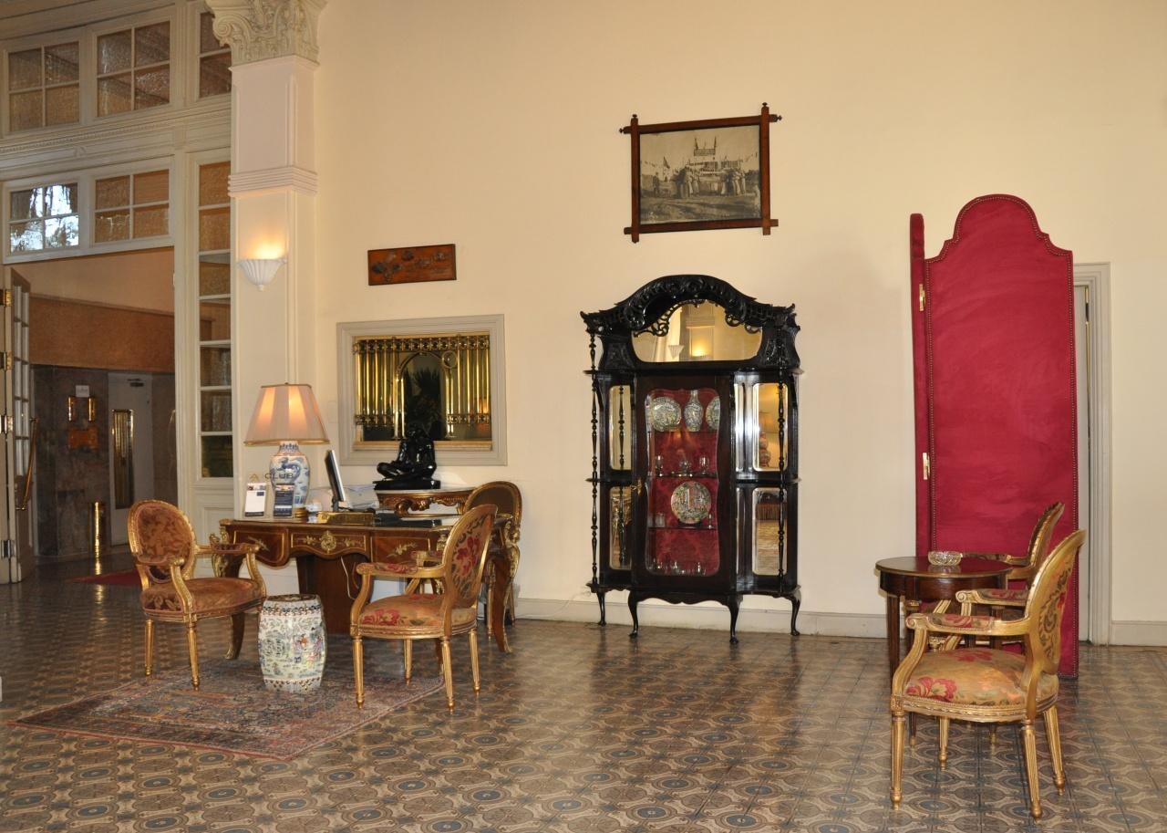 Bureau du concierge du hall de réception.