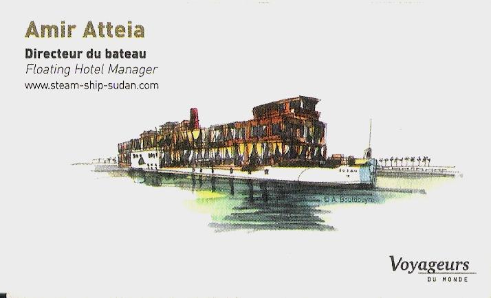 Carte d'Amir Atteia, directeur du navire.