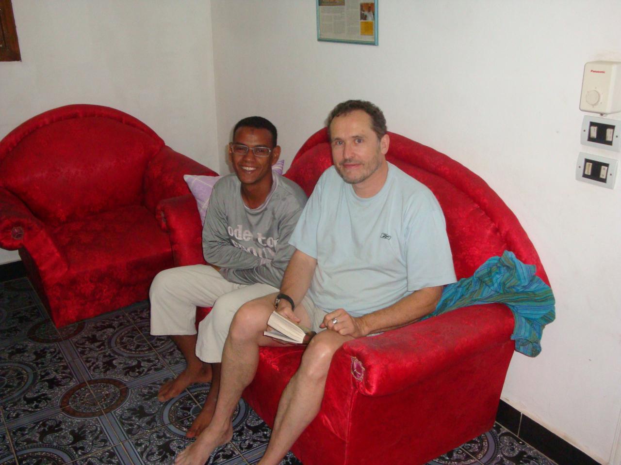 Ali et Thierry dans la suite Cléopâtre de KV1