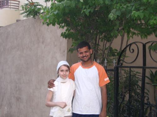 Angèle avec Ahmed en mai 2008.