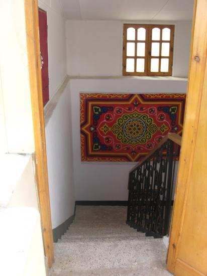 Escalier d'accès à la terrasse.
