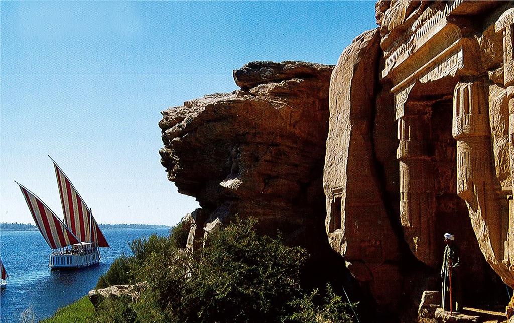 Le site de Gebel silsileh, à 60km en aval d'Assouan.