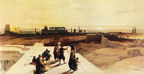 L'aire sacrée de Karnak - Roberts 1839