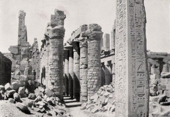Site de Karnak - Obélisque de Touthmôsis Ier