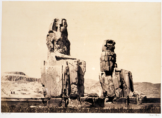 Francis Frith 1856-1859 - Colosses de Memnon.