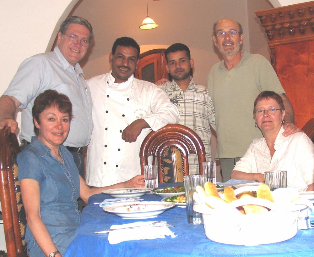 Ahmed, Chazli et le Quebec à Louxor - Mars 2009