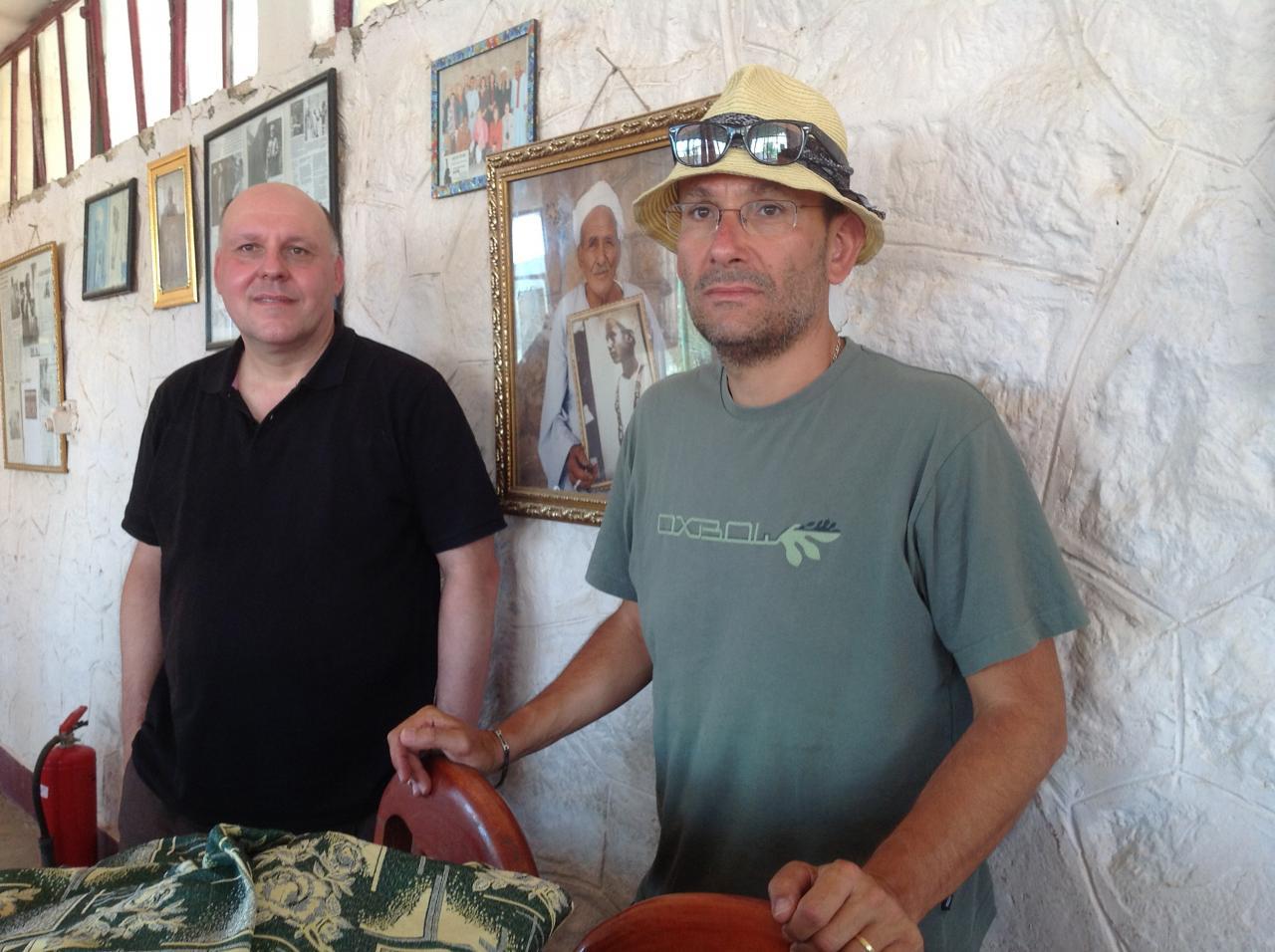 Didier et Pascal au Rest house du Ramesseum - Août 2012.