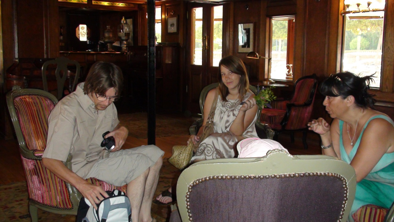 Philippe, Floriane et Ariane.