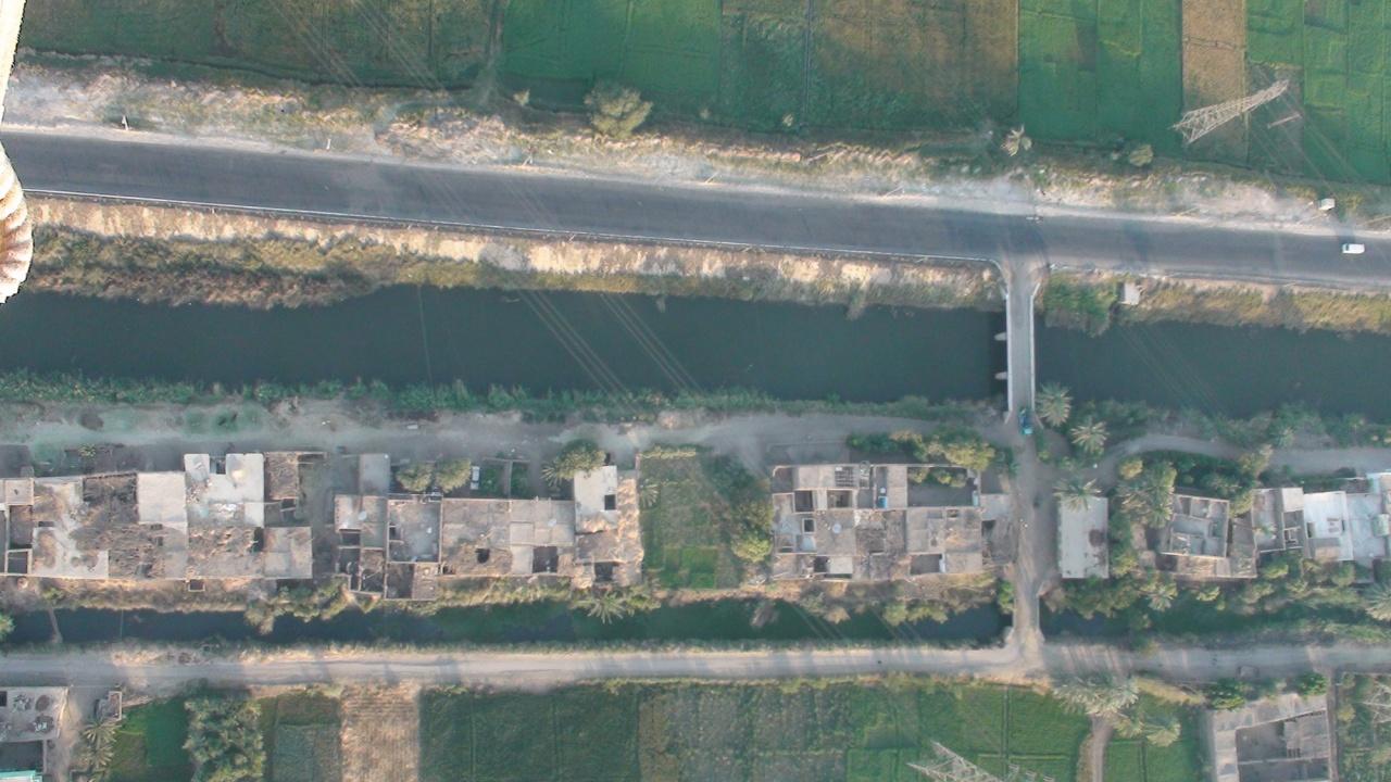 Le canal d'un village