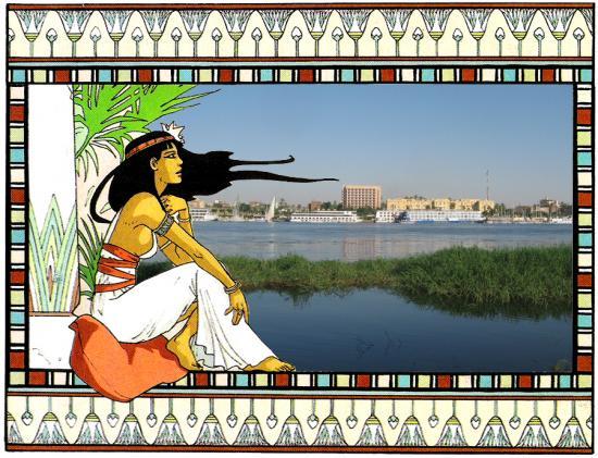 Egytienne au bord du Nil.