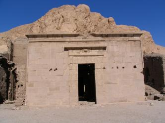 Le temple d'Hathor.