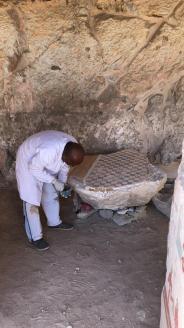 Les travaux de restauration ont commencé dans la nouvelle tombe