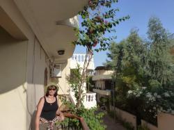 sur la terrasse de la villa
