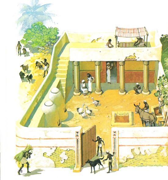 Reconstitution d'une maison