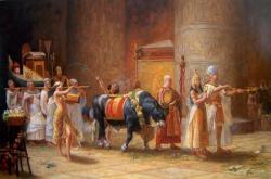Procession d'Apis par Frederick Arthur Bridgman