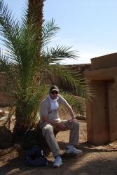Sébastien à Karnak sur la rive Est de Louxor.
