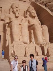 A Abou Simbel en Nubie.