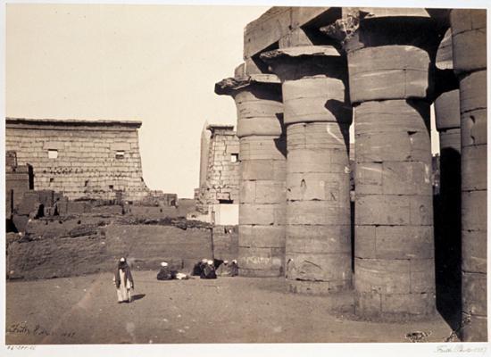 Francis Frith 1856-1859 - Le temple de Louxor.