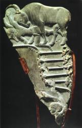 Palette avec le souverain représenté en taureau - 3100 av.J.-C.