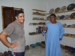 Avec Mohamed (à droite)