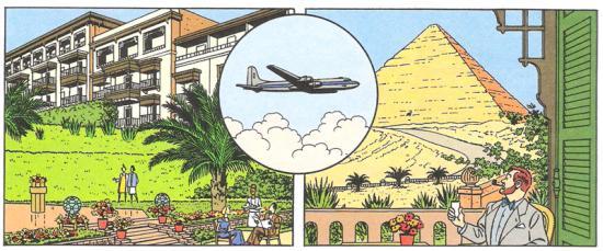 Mena House Hôtel, au pied des pyramides.