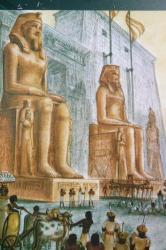 Reconstitution du temple (tiré de l'art et l'histoire de l'Egypte)