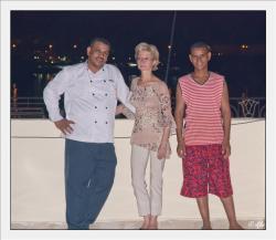 Chazli, Lola et Ali sur la terrase de KV1 sur la rive Ouest de Louxor.