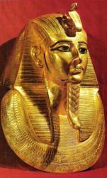 Masque funéraire de Psousennès 1er.