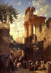 Une rue au Caire Prosper Marilhat - 1831