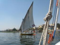 Felouque sur le Nil.