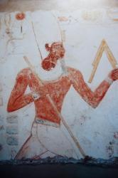 Amenhotep III court devant Min.