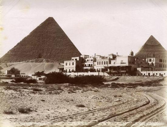 EGYPT PAR P. PERIDIS CIRCA 1885 - LE CAIRE - MENA HOUSE HOTEL