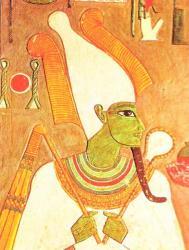 Osiris (tombeau d'Horemheb, XVIIIème dynastie).