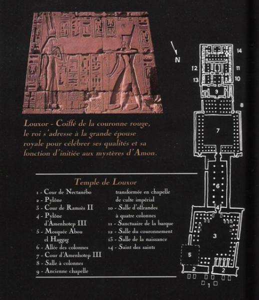 Plan du temple de Louxor