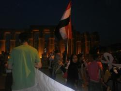 Arrivée de nuit au temple de Louxor