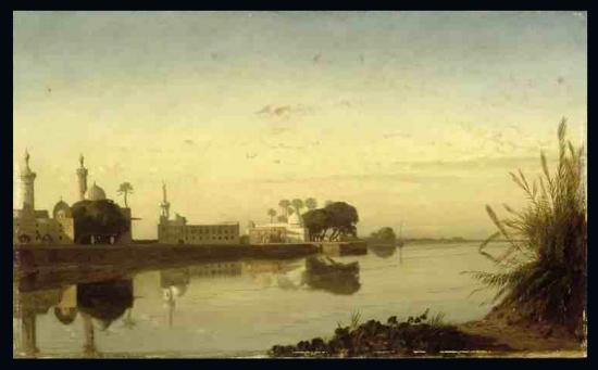 Grande vue du Nil en Basse-Egypte - 1831 - Prosper Marilhat.