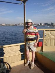 Thierry sur le Ferry de Louxor.