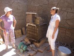 Avec Christine Gerber à l'école de poterie de Louxor