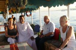 Sur un motorboat du Nil.