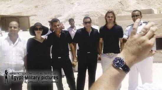 Brad Pitt et Angelina Jolie en Egypte