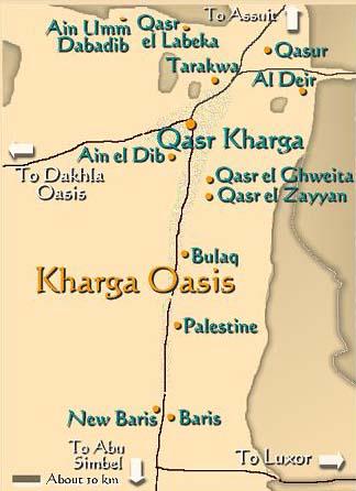 Carte oasis de Kharga