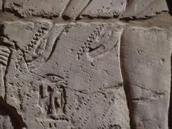 Scène de la salle hypostyle de Karnak