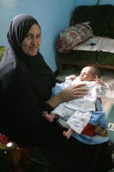 Shaata et son petit fils Marwan