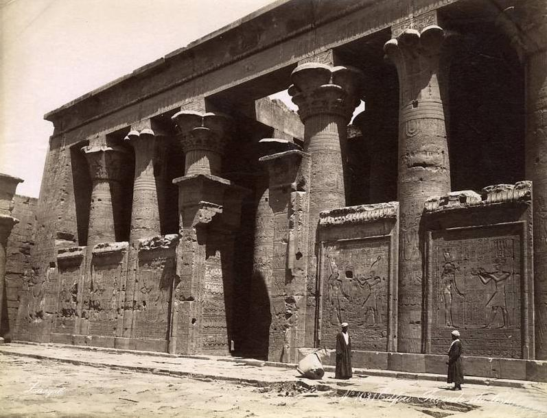Egypt par georges et constantin zangaki circa 1885 edfou facade du temple