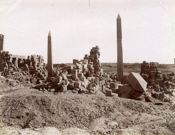 Egypt par georges et constantin zangaki circa 1885 karnak obelisques