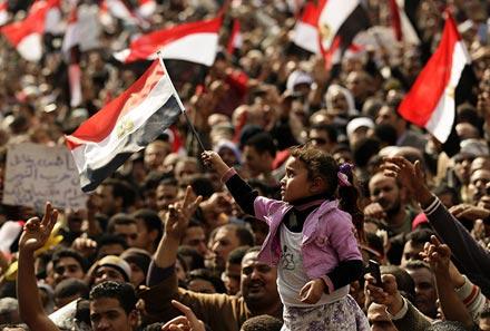 Des dizaines de milliers d'Egyptiens place Tahrir - 25 janvier 2012