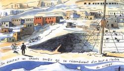 Gournah, petit village de paysans égyptiens.