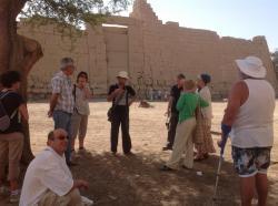 Visite guidée du Ramesseum avec Eric.