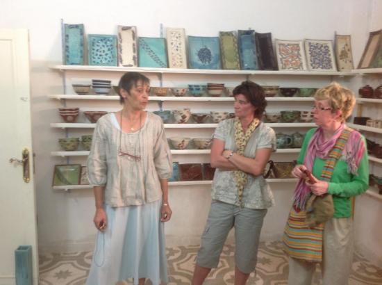 Atelier de Poterie - M-Christine est à gauche - Mars 2013