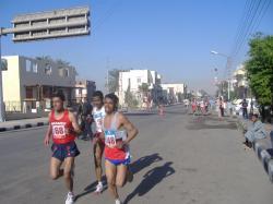 Marathon sur la westbank de Louxor